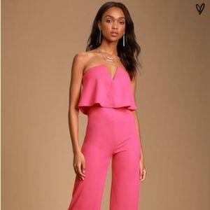 Lulu's - NWT - Pink Jumpsuit - Medium